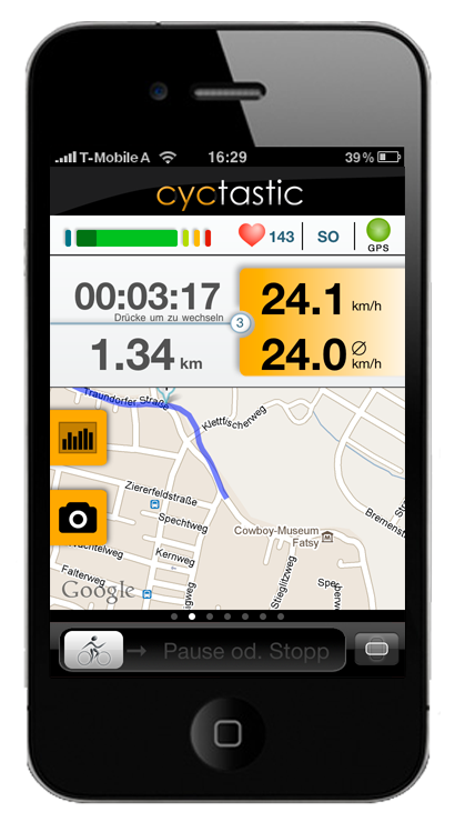 cyctastic gps fahrradcomputer. Black Bedroom Furniture Sets. Home Design Ideas