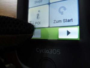Bedienung Touchscreen Mio Cyclo 305