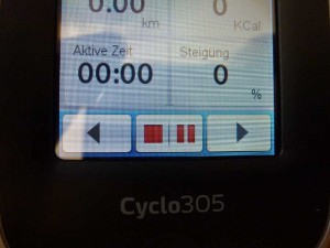 Mio Cyclo - Pause - Stopptaste