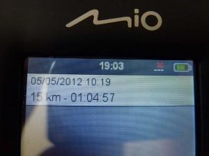 Mio Cyclo - Menüpunkt Verlauf