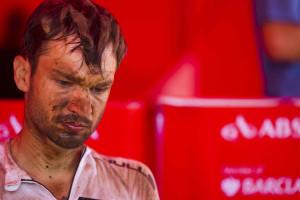 Tim Boehme geschafft nach der Etappe Gary Perkin/Cape Epic/SPORTZPICS