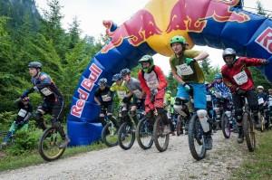 Start Einraddownhillrennen