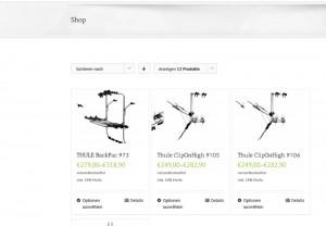 Verkauf von Radträgern