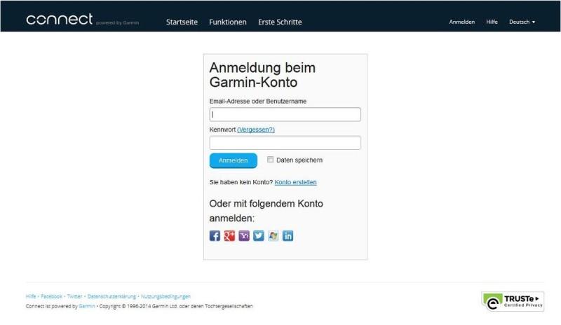 Garmin_Connect_Anmelden