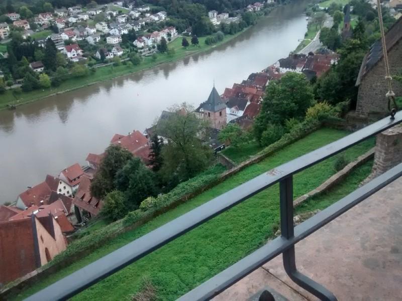 Hirschhorn, Blick von der Burg