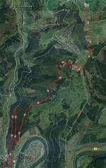 Strecke von Hirschhorn nach Rothenberg