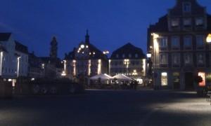 Der Marktplatz in Schwäbisch Gmünd bei Nacht