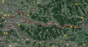 Strecke Stuttgart - Schwäbsch Gmünd