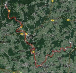 Strecke Möckmühl - Eberbach