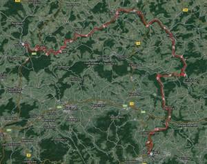 Strecke Schwäbisch Hall - Möckmühl
