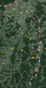 Strecke von Rothenberg nach Roßdorf