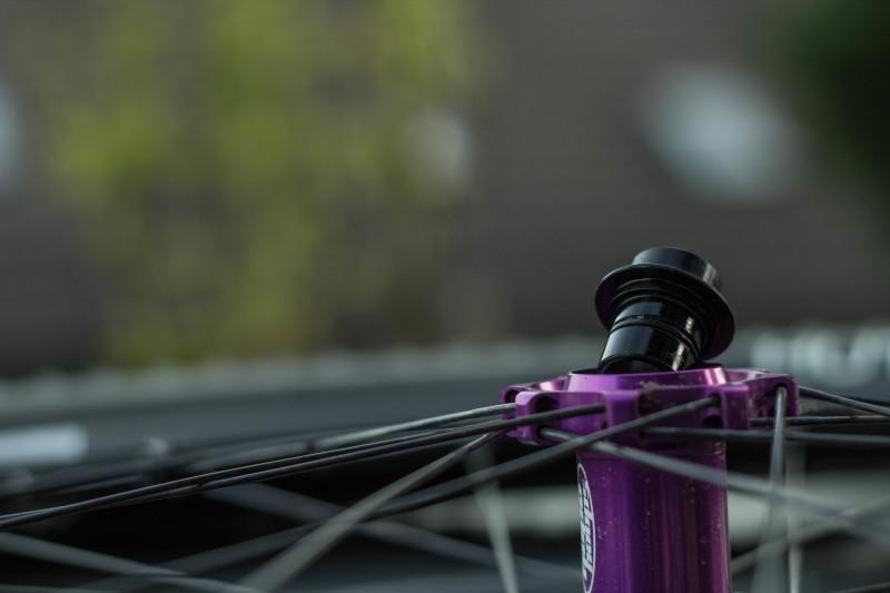 Adaptersystem an den Hope Enduro Tech Laufrädern.