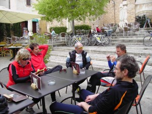 Kaffeepause in Pollenca