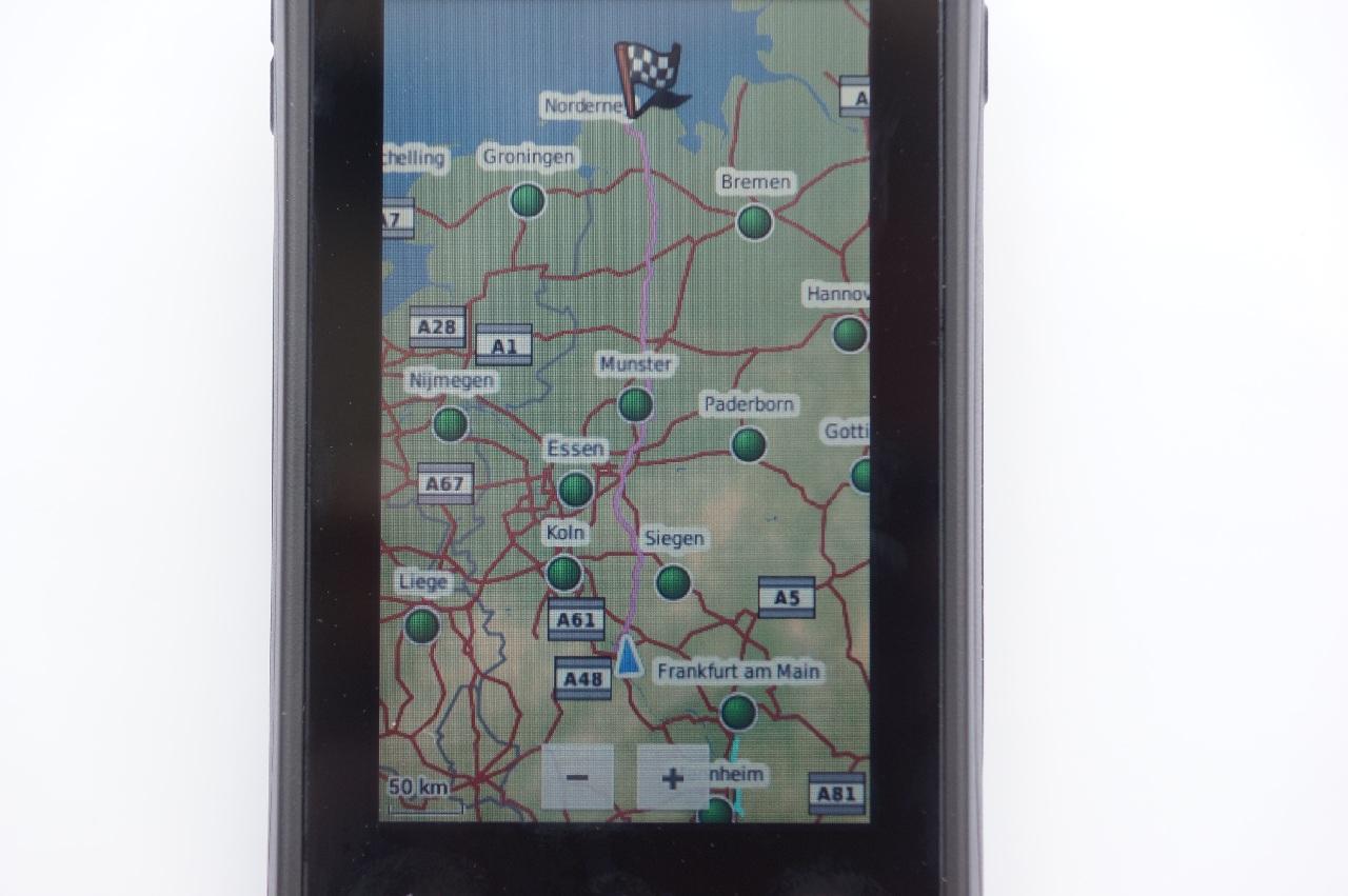 Garmin Monterra Längere Route (Fahrrad)