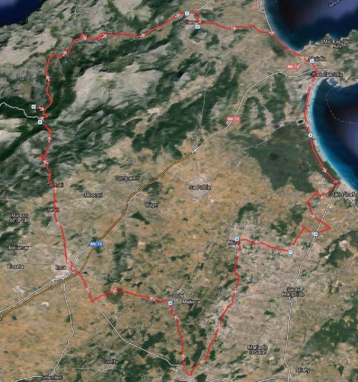 Route 100 km