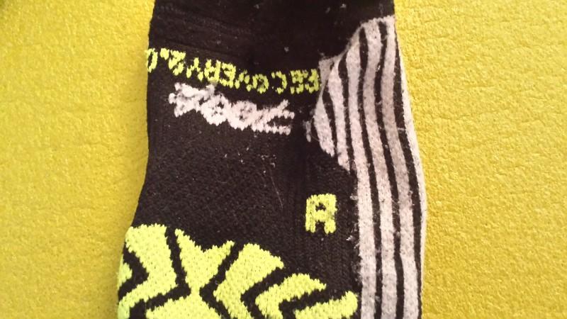 Die Socken sind für Rechts und Links entsprechend anatomisch angepasst