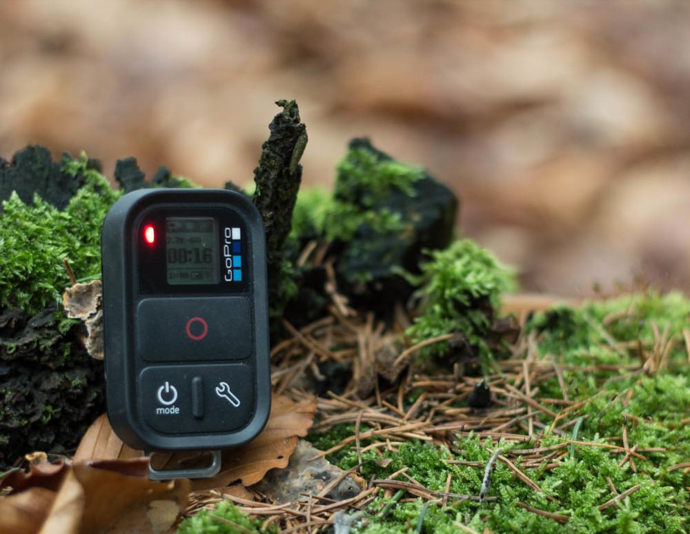 Aufnahme läuft - Ein rotes Lämpchen zeigt wie schon bei der GoPro an ob die Kamera läuft oder nicht