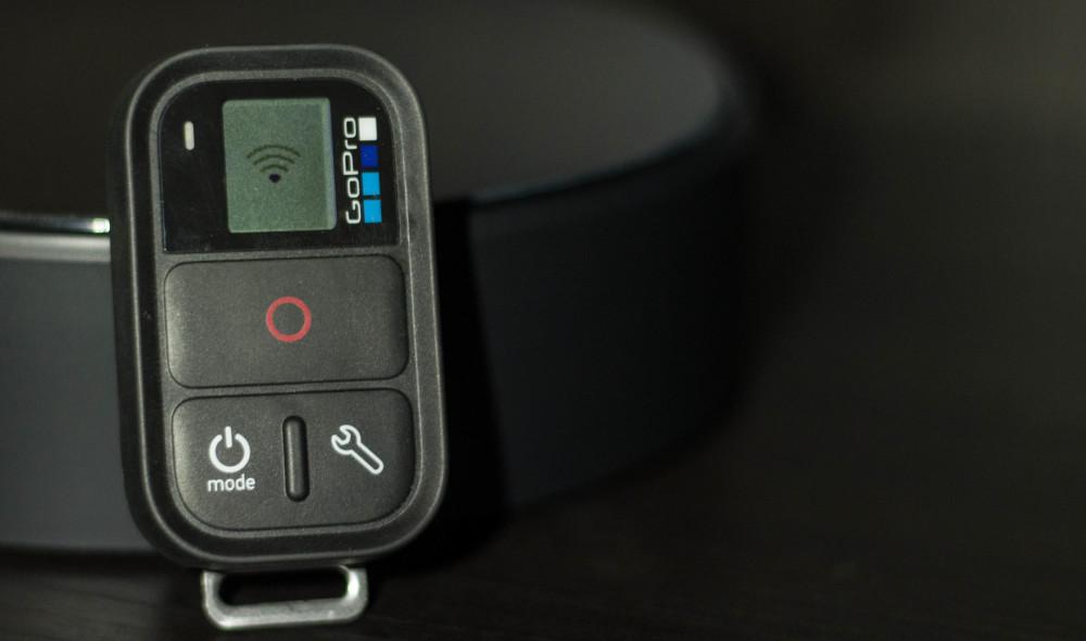 Der Remote beim verbinden mit einer GoPro - eine Sache von wenigen Sekunden