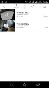 Alle Videos und Fotos können direkt via App auf das Handy heruntergeladen werden.
