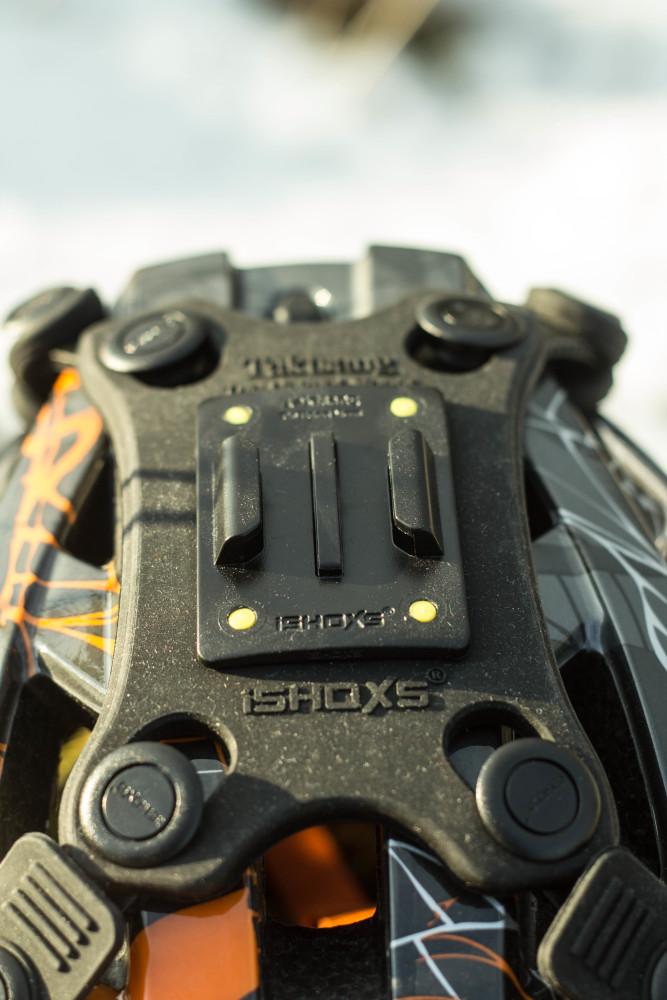 In die Halterung integriert ist das Safety Pad welches sich im Schadensfall auswechseln lässt.