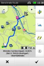 Übersicht der berechneten Route