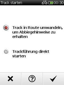 Zwei Arten der Routenführung