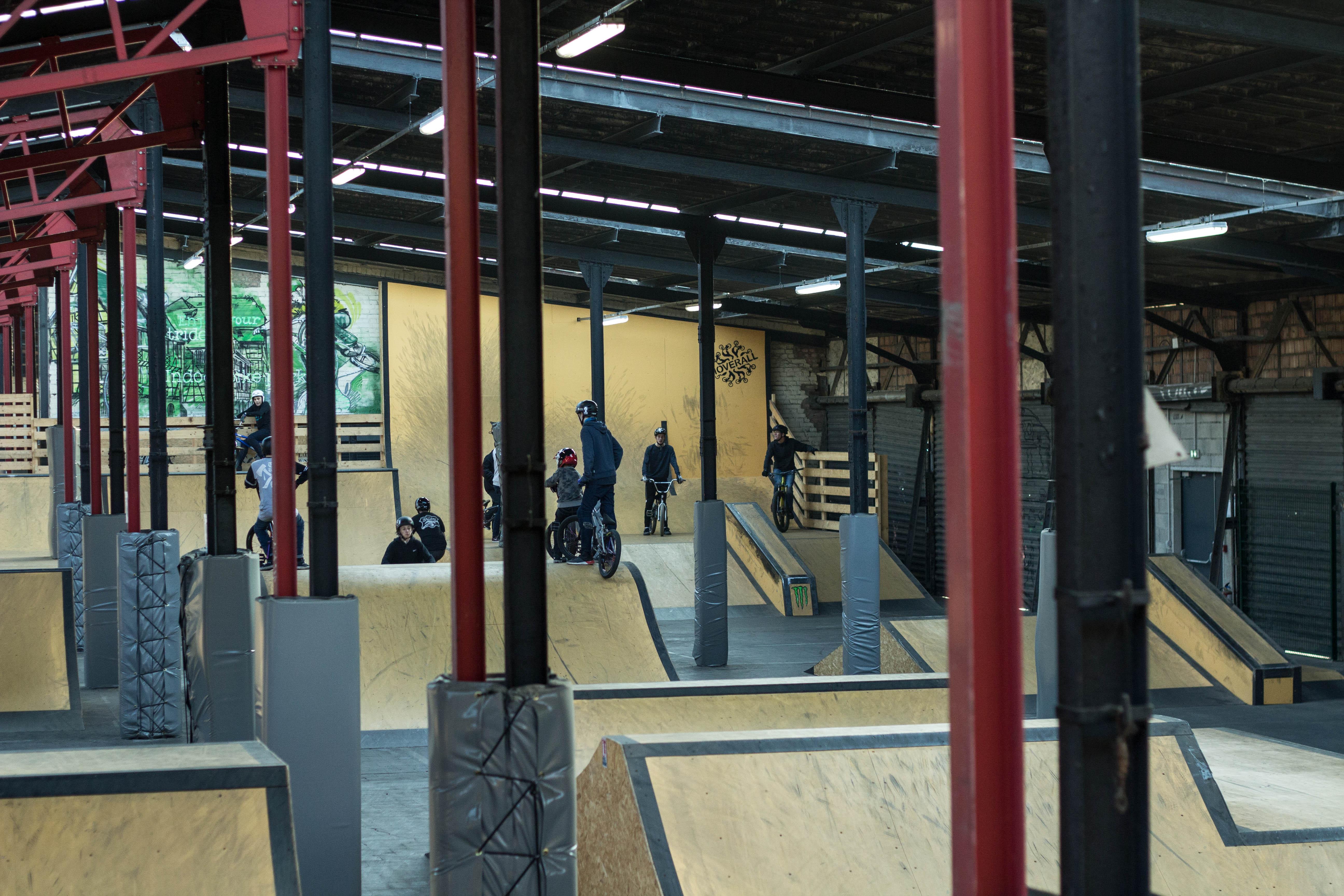 Großzügig angelegter Park für Bmx und Dirtbikes
