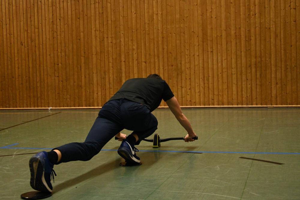 Mit den Slopes kann man die Beine aktiv ins Training integrieren